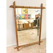 Grand miroir façon Bambou