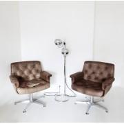Paire de fauteuils cuir CIRCA 1970
