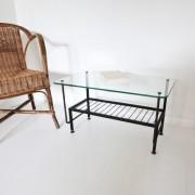 Table basse métal noir