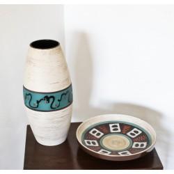 Ensemble vase et coupe Vintage