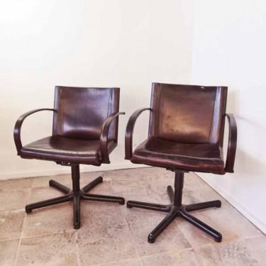 Paire de fauteuils cuir MattéoGrassi